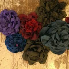Spille fiori di stoffa