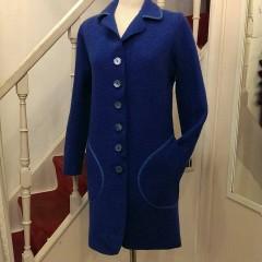 Cappotto lana cotta blu