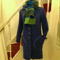 Cappotto lana cotta e sciarpa