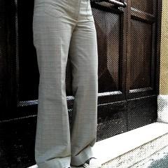 Pantaloni palazzo tasca a toppa