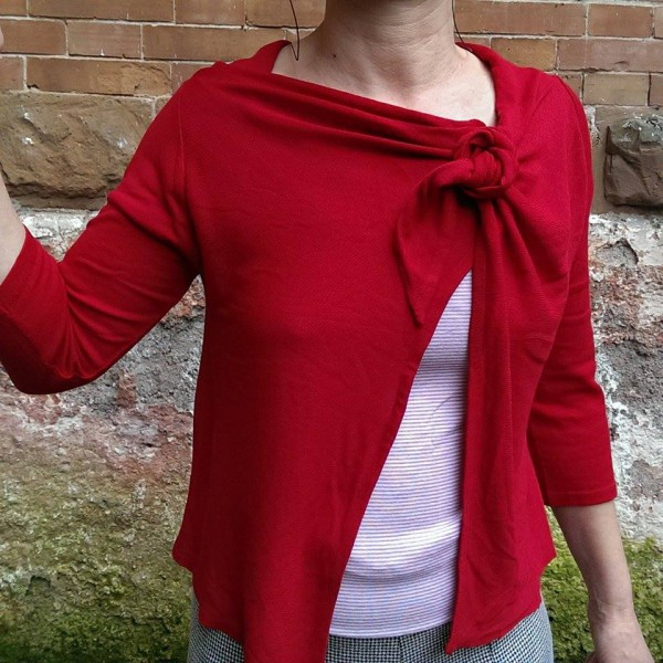 maglia a nodo rossa