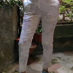Pantalone di cotone elasticizzato