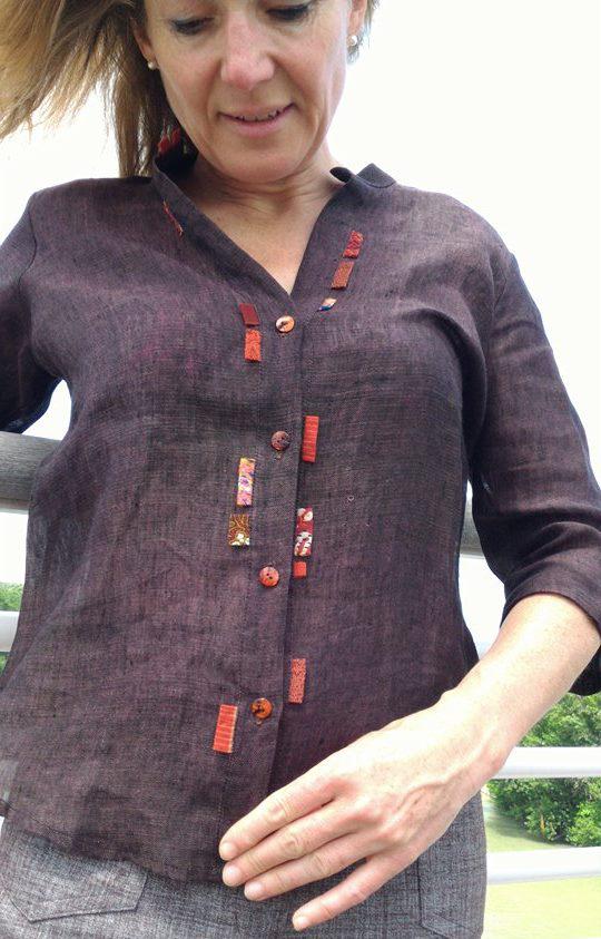 camicia lino inserti stoffe giap-ind-tail