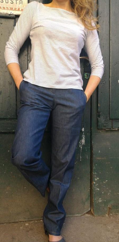 maglietta-jeans taglio maschile